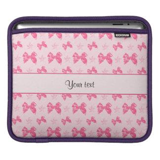 Beautiful Pink Satin Bows iPad Sleeve