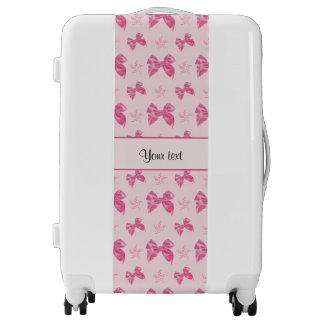 Beautiful Pink Satin Bows Luggage