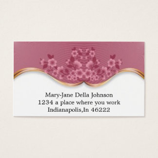 Beautiful Pink Spa  Flowers Business Card