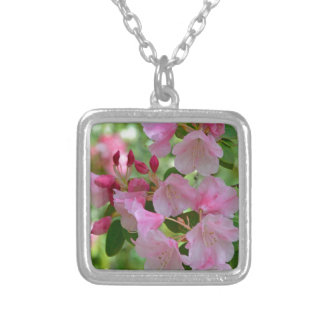 Beautiful pink spring rhododendron flowers jewelry