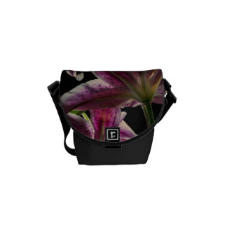 Beautiful Pink Stargazer Lilies Courier Bags