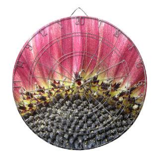 Beautiful Pink Sunflower Dart Board