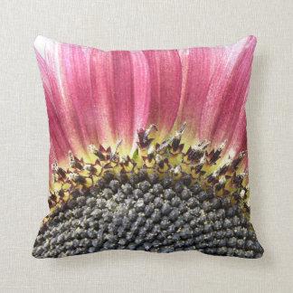 Beautiful Pink Sunflower Pillow