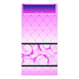 Beautiful pink swirls and stripped pattern card