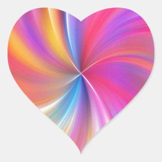 Beautiful Pink Swirls Heart Sticker