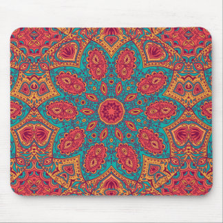 Beautiful Pink Teal Orange Zen Pattern Mouse Pad