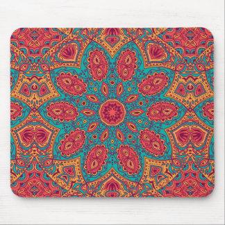Beautiful Pink Teal Orange Zen Pattern Mouse Pad