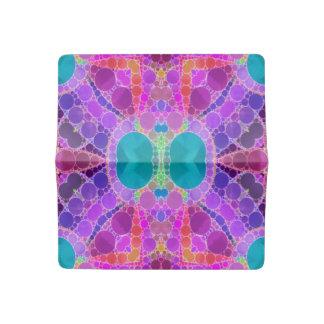 Beautiful Pink Turquoise Abstract Checkbook Cover
