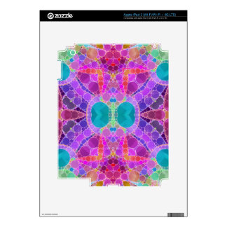 Beautiful Pink Turquoise Abstract iPad 3 Skins