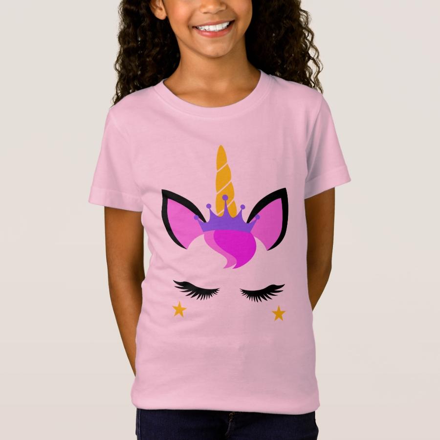 Beautiful Pink Unicorn Shirt - Comfortable Kids' Long Sleeve T-Shirt Designs