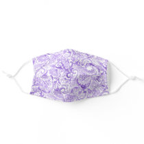 Beautiful Pink Violet Purple Floral Paisley Art Adult Cloth Face Mask