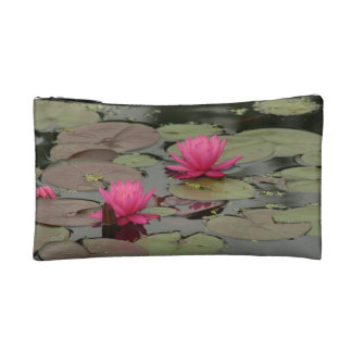 Beautiful Pink Water Lily Cosmetic/Accessory Bag