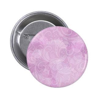 Beautiful Pink White Swirl Modern Design Button