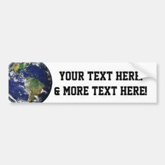 Beautiful Planet Earth Car Bumper Sticker