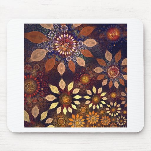 BEAUTIFUL  PLASTIC FLOWERS MOUSE PADS