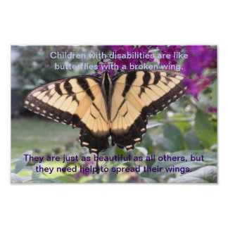 Beautiful Poem and Photo For Disabled Children Poster