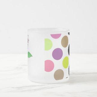 Beautiful Polka Dot Roses Mug