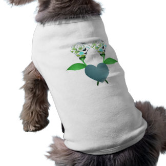 Beautiful Polka Dot Roses Pet Shirt