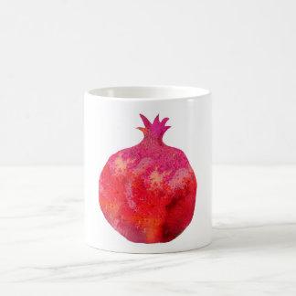Beautiful pomegranate classic white coffee mug