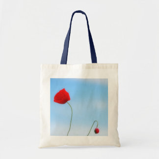 Beautiful Poppy Tote Bags