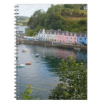 Beautiful port and sailboats with reflections in 2 spiral notebook