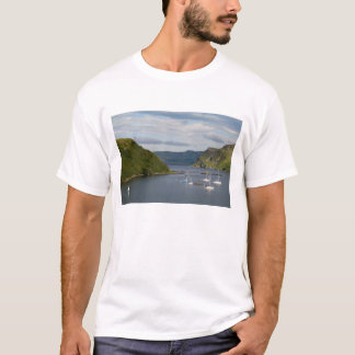 Beautiful port and sailboats with reflections in T-Shirt