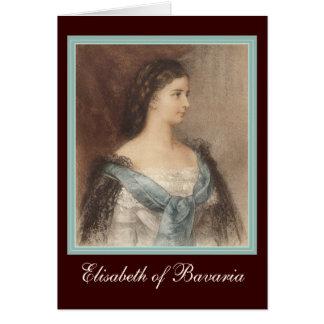 Beautiful Portrait of Empress Elisabeth - Sisi Greeting Card