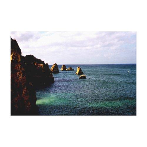 Beautiful Portugal Ocean - Teal & Azure Paradise Canvas Print
