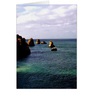 Beautiful Portugal Ocean - Teal & Azure Paradise Greeting Card