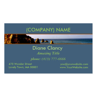 Beautiful Portugal Ocean, Teal Azure Paradise Double-Sided Standard Business Cards (Pack Of 100)