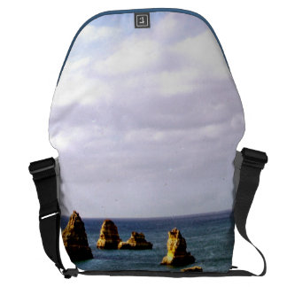 Beautiful Portugal Ocean Teal Azure Paradise Large Courier Bags