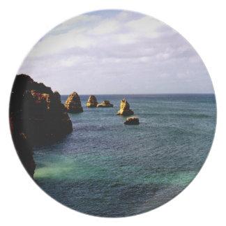 Beautiful Portugal Ocean - Teal & Azure Paradise Dinner Plates