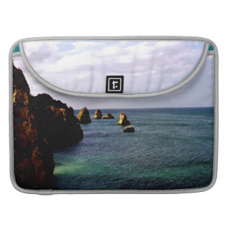 Beautiful Portugal Ocean - Teal & Azure Paradise Sleeve For MacBook Pro