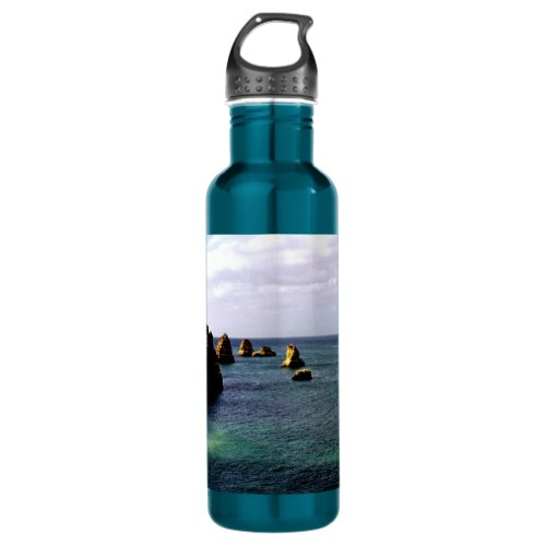 Beautiful Portugal Ocean - Teal & Azure Paradise Water Bottle