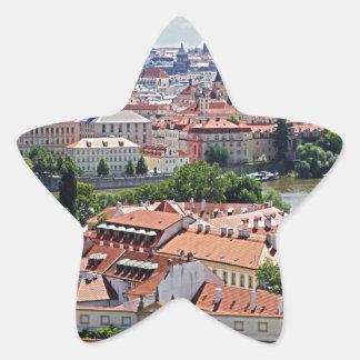 Beautiful Prague Star Sticker