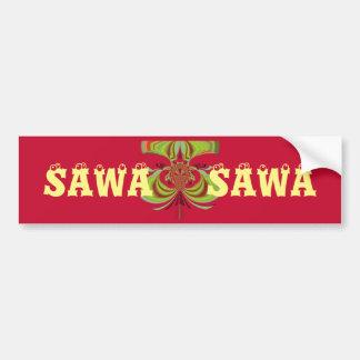Beautiful Pretty Uniquely Exceptional Sawa Sawa Bumper Sticker