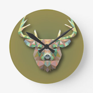 Beautiful print Moose bringing with it all prosper Round Clock