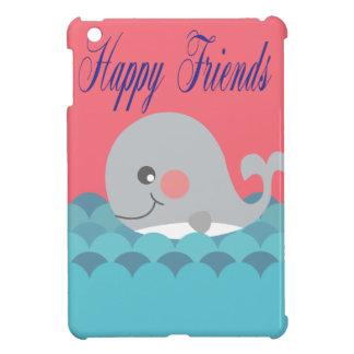 Beautiful print whale happy friends. iPad mini cases