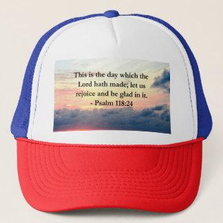 BEAUTIFUL PSALM 118:24 SUNRISE OVER THE OCEAN TRUCKER HAT