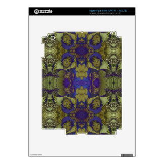Beautiful Psychedelic Vintage Woman iPad 3 Decals