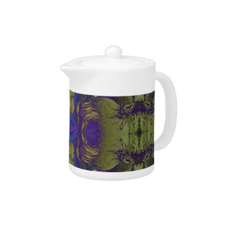 Beautiful Psychedelic Vintage Woman Teapot