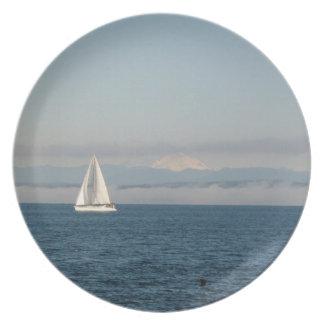 Beautiful Puget Sound Sailboat Plate