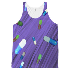 Beautiful Purple All-Over-Print Tank Top