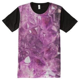 Beautiful purple Amethyst All-Over Print T-shirt