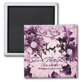 Beautiful purple and white floral design. magnet