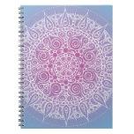 Beautiful Purple/Blue Oriental Design Spiral Notebook