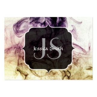 Beautiful Purple Brown Smoky Dust Monogram Large Business Card