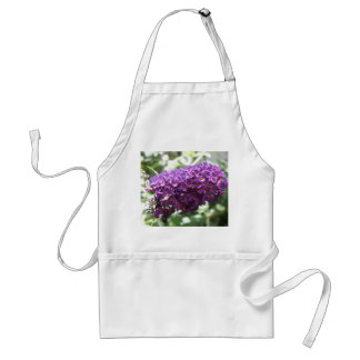 Beautiful Purple Buddleia Flowers Apron