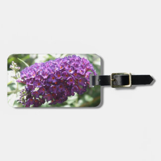 Beautiful Purple Buddleia Flowers Custom Tag