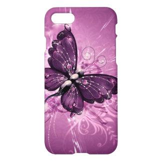 beautiful  purple buterfly swirl lines vector art iPhone 7 case